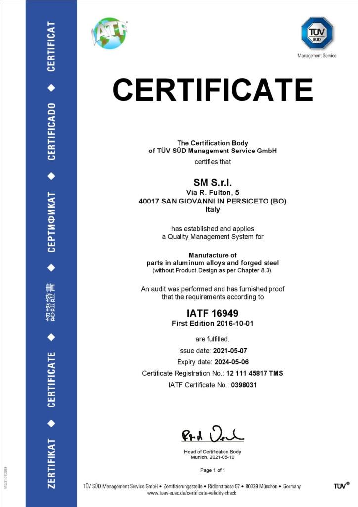 TUV IATF 16949 06-05-24